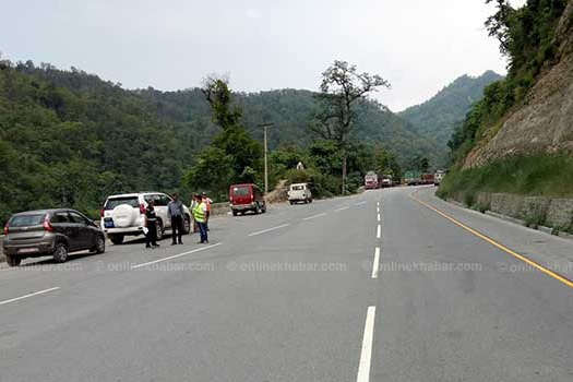 नारायणगढ-मुग्लिन सडक आजदेखि एक सातासम्म दिउँसो बन्द हुने