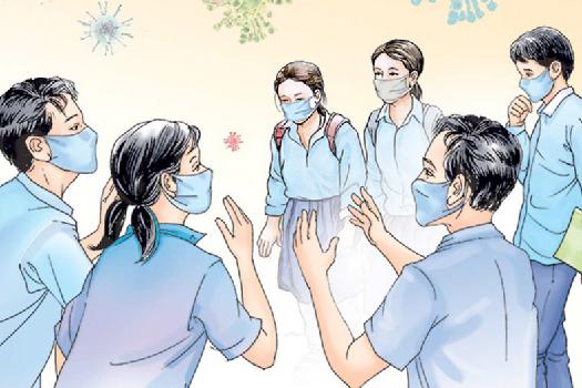 विद्यार्थीमा संक्रमण बढ्यो