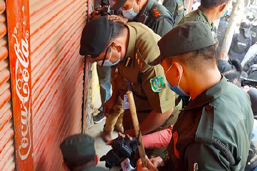 काठमाडौं महानगरले बन्द गरायो सिटी मार्केटका पसल