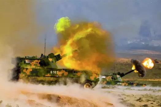 भारत सीमा नजिक चीनले गर्यो युद्धाभ्यास (भिडियो)