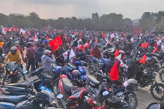 संसद विघटनविरुद्ध मोटरसाइकल र्याली