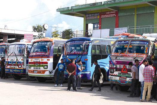 यातायात क्षेत्रका साढे १० लाख श्रमिक  र व्यवसायी ४ महिनादेखि बेरोजगार