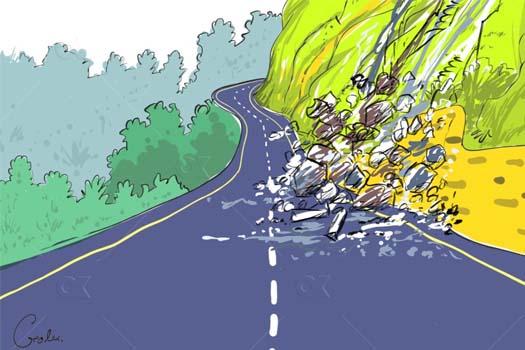 राजमार्गको दुर्दशा : वर्षेनि पिच थपिन्छ, भित्तामा ध्यान जाँदैन
