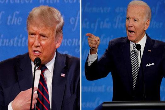 अमेरिका राष्ट्रपति निर्वाचनः ट्रम्पमाथि बाइडेनको ८ अंकको अग्रता !