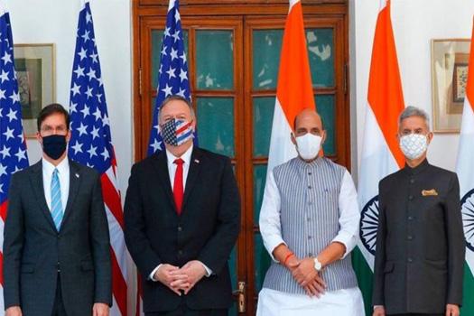 टु प्लस टु वार्तापछि भारत र अमेरिकाबीच सैन्य सम्झौता